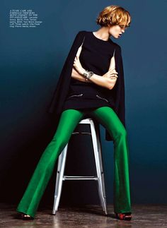 Love these green pants!    ZsaZsa Bellagio