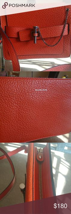 Carven Cross body Bag Bright red crossbody little bag by Carven. Great size for leisure time! Shopping, hanging out, having brunch, going to movies, you name it. Chic square shape and soft leather. Carven Bags Crossbody Bags