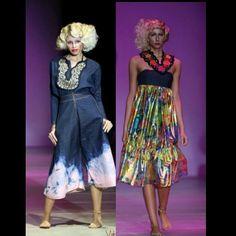 Mercedes benz fashion week panama. Trajes del diseñador john allen y accesorios de kuna art panama
