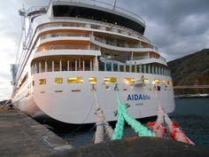 #AIDA blu am Morgen im Hafen von #LaPalma