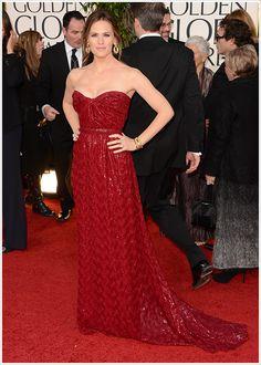 Jennifer Garner in Vivienne Westwood #GoldenGlobes