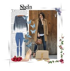 """SheIn contest"" by emina-393 ❤ liked on Polyvore featuring Yves Saint Laurent, Topshop, Christian Louboutin, Balmain, women's clothing, women's fashion, women, female, woman and misses"