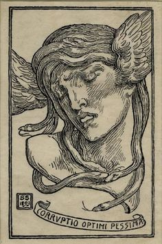 Simeon Solomon…woodcut…Corruptio Optimi Pessima…1893