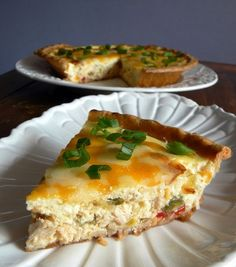 Sour Cream Chicken Quiche {one of my forgotten faves! Would use homemade crust now}