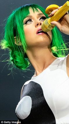 Green with envy: Lady Gaga appeared to hint via Twitter on Thursday that Katy Perry's late...