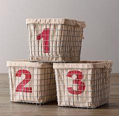 Industrial Shelf Basket Set of 3