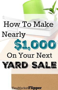 Whoa! $1K at a yard sale is fantastic!!