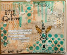 Layers of ink: Simon Says Stamp STAMPtember® Blog Hop, Love to Create Art Journaling page, made with Simon Says Stamp STAMPtember Art Journaling kit. Step-by-step tutorial.
