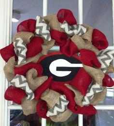 Ga. Burlap Wreath!!