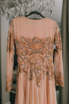 The stunning embroidered dress the bride wore at her Nikkah ceremony. Beautiful Moments, Wedding Ceremony, Bell Sleeve Top, Glamour, Indian, Bride, How To Wear, Muslim, Outfits