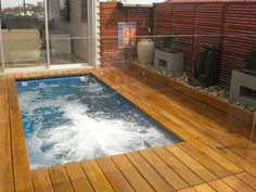 Pool Decking Design Ideas - Photos of Pool Decking. Browse Photos from Australian Designers & Trade Professionals, Create an Inspiration Board to save your favourite images. Outdoor Spa, Outdoor Retreat, Outdoor Living, Outdoor Decor, Outdoor Ideas, Backyard Ideas, Pool Spa, Pool Fence, Pool Decks