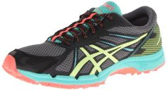 ASICS Womens GelFuji Racer 3 Women's Trail Running Shoes ShoeDark CharcoalSharp GreenCoral65 M US >>> Learn more by visiting the image link.