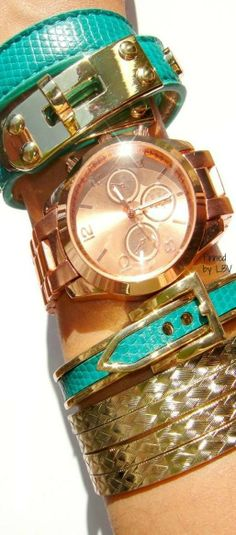 Green and gold stack | LBV ♥✤