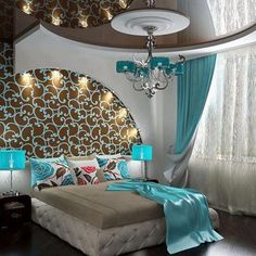 Blue is definitely a great colour for this bedroom