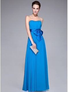 Special Occasion Dresses - $122.99 - A-Line/Princess Sweetheart Floor-Length Chiffon Charmeuse Evening Dress With Ruffle Bow(s)  http://www.dressfirst.com/A-Line-Princess-Sweetheart-Floor-Length-Chiffon-Charmeuse-Evening-Dress-With-Ruffle-Bow-S-017041079-g41079