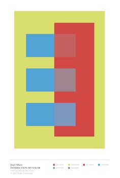 """Josef Albers' Interaction of Color: """"transparence and space-illusion"""" color study"""
