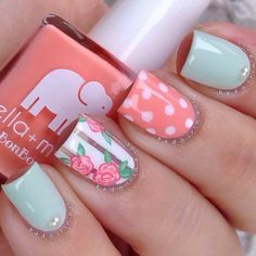 A manicure is a cosmetic elegance therapy for the finger nails and hands. A manicure could deal with just the hands, just the nails, or Cute Nail Art, Cute Nails, Pretty Nails, My Nails, Kiss Nails, Gorgeous Nails, Best Nail Art Designs, Acrylic Nail Designs, Acrylic Nails