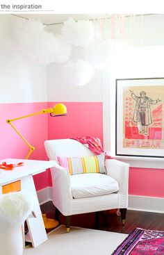 colorful room // shereen de rousseau's office. interior design by nancy riesco