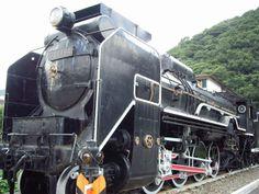 津和野駅横の公園に設置されていたSL D51です。錆がかなり進んでいました。