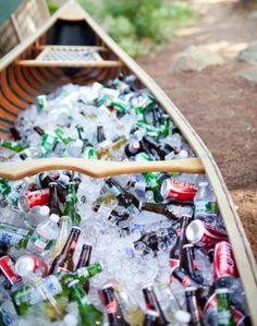 Canoe Cooler for Backyard Parties