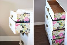Getting Sticky With It: 16 Things Contact Paper Can Completely (and Immediately) Transform - dresser - DIY Project