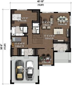 The Difference Between Modern Interiors And Traditional Interior Home Design House Layout Plans, Small House Plans, House Layouts, House Floor Plans, The Plan, How To Plan, Plan Plan, Contemporary Style Homes, Home Pictures