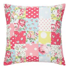 Cath Kidston: Patchwork Cushion Cover- sewing inspiration