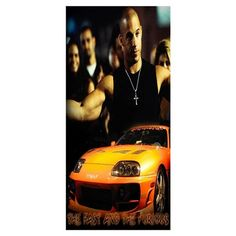 Novelty Bath Towels!The Fast and the Furious  Printed Soft Superfine Bamboo Fiber Swimming Travel Gym Towel_Size:35CMX70CM