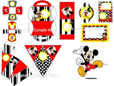 Kit imprimible de Mickey Mouse gratis - Imagui