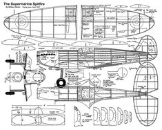 Spitfire.W.-Win Airplane Sketch, Airplane Illustration, Wooden Boat Plans, Wooden Boats, Rc Model, Paper Models, Scale Models, Aircraft, How To Plan