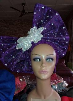 Élégant Take-a-Bow Pre-Tied Ready to Wear Bow Detailed Auto Gele African Inspired Fashion, African Fashion, Funky Hats, African Head Wraps, African Attire, Headgear, Headdress, Ready To Wear, Fashion Dresses