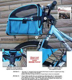 dog baskets for a bike | Large BICYCLE BASKET Traveler dog carrier pet bike carriers