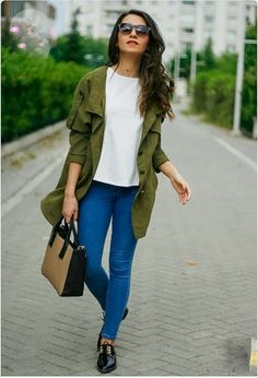 Looks con verde militar para otoño   ActitudFEM Chic Winter-outfits, Herbst  Outfits, 654e32c428