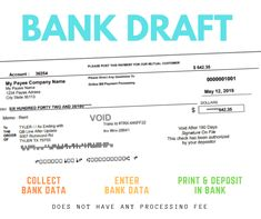 Check Draft - Bank Draft - Check by Phone Fax Online Web Payroll Checks, Employer Identification Number, Blank Check, A State Of Trance, Free Checking, Writing Software, Accounts Payable, First Bank