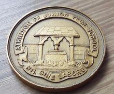 1935 Atkinson Road Junior Tech School Long Jump Athletics Medal - Newcastle
