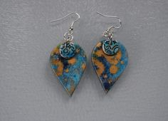Handmade polymer clay  earrings by MillHouseYorkshire on Etsy https://www.etsy.com/listing/492614390/handmade-polymer-clay-earrings