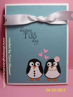 StampingHare -- April owl punch class featuring Stampin' Up's! owl punch and word play stamp set. Inspired by ladybugstamper_jen #diy #stampinup #wedding #penguins