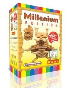 Webby's Millenium Edition: 250 Precision Cut Wooden Matching Natural & Identical Planks, Each WEBBYS plank is simply placed one on top of the other and thus held in place by gravity and balance alone. The flat shape and light weight wood enhances confidence and curiosity and determinatio..., #Toys, #Building Sets http://www.toylinksinc.com/