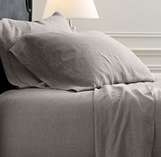 Affordable Home Buys That Even Decorators LOVE #refinery29  http://www.refinery29.com/how-to-buy-cheap-home-decor#slide-16  The heather gray hue of this sheet set is inviting for a nap.