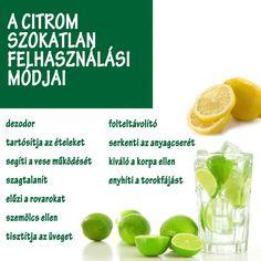 A citrom szokatlan felhasználási módjai