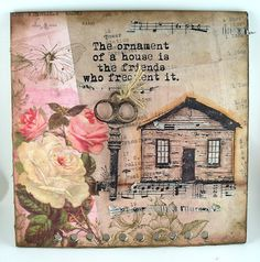 Suzz's Stamping Spot, Basically Bare, Mini Album, Shabby Chic, Happy Little Houses, Acetate, Hearts, DarkRoom Door, Home