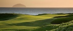 Turnberry, Ayrshire with Ailsa Craig in the distance,
