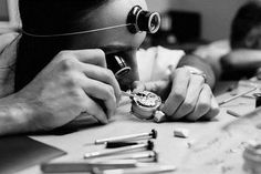 "The watchmaker gives life to the movement. He assembles hundreds of components to create the ""engine"" of the watch. Engine, Artisan, Scene, Motor Engine, Craftsman"