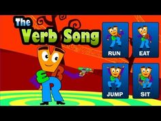The Verb Song - English Grammar The Verb Song - English Grammar Verbs are all around us, they are always on the move, Watch the video to s. Grammar Activities, Language Activities, Teaching Resources, Teaching Tools, Maths, Verb Song, Nouns And Verbs, School Videos, First Grade Reading