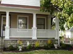 Planning   Ideas Front Porch Columns With White Fences Front Porch ColumnsSpring Project   Porch Columns   Deck posts  Porch columns and  . Front Porch Columns Images. Home Design Ideas