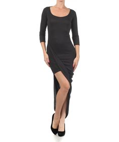 Another great find on #zulily! J-Mode USA Los Angeles Black Open-Back Dress by J-Mode USA Los Angeles #zulilyfinds