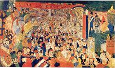 peinture: James  Ensor:  Entrée  du Christ à Bruxelles  -  Anvers
