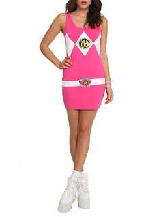 OMG why am i not a size 3!!!! Mighty Morphin Power Rangers Pink Ranger Costume Dress   Hot Topic