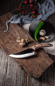 If you are looking for a unique knife used by professional chefs, then ChefcutPro™ is made for you! Enjoy a perfectly controlled, hands-on cutting experience. Forging Knives, Forged Knife, Kitchen Knives, Kitchen Tools, Kitchen Gadgets, Unique Knives, Japanese Chef, Butcher Knife, Types Of Knives