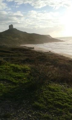 Tharros Oristano spiaggia con vista torre spagnola 26-12-14